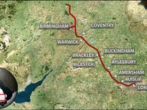 HS2 high-speed route London to Birmingham