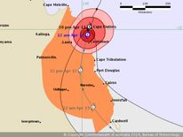 Cyclone Ita forecast map