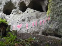 Graffiti at sacred Native American site Pic: Gideon Cauffman