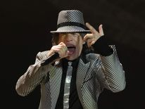 Mick Jagger of The Rolling Stones performing at the O2 Arena in London