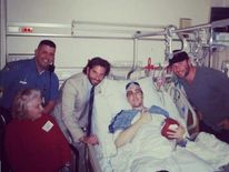 Boston bomb victim Jeff Bauman in hospital