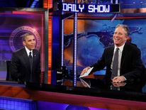 U.S. President Obama participates in a taping of the Daily Show with Jon Stewart in New York