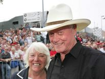 US actor Larry Hagman and his wife Maj a