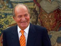Spain's King Juan Carlos at the Zarzuela Palace in late May