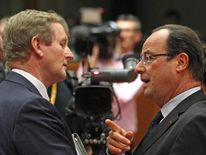 Francois Hollande and Enda Kenny ahead of the EU budget summit