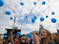Kiev celebrates free-trade agreement between Ukraine and the EU