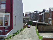 The alley where 16-year-old Sasha Marsden was found dead in Blackpool