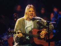 Kurt Cobain of Nirvana during the taping of MTV Unplugged at Sony Studios in New York in November 1993.