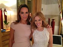 Isabel Webster with Kylie Minogue