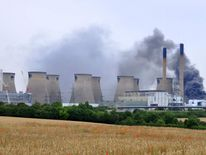 Ferrybridge power station blaze