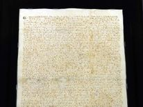 The Magna Carta is seen February 2, 2012