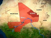 Map of Mali and surrounding area