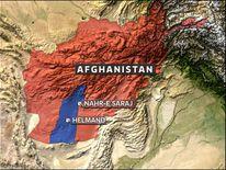 Helmand map showing Nar-e Saraj