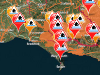 South West flood warnings