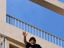 Maradona greets fans