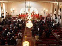 Iraqi Christians attend mass on Christmas at St. Joseph Chaldean Church in Baghdad