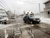 A snow storm in Scituate, Massachusetts