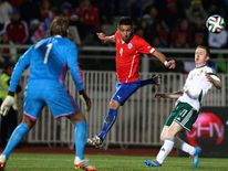 Chile against Northern Ireland during international friendly soccer match, in Valparaiso