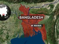 A map showing the location of Mawa in Bangladesh