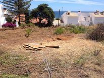The site where police have been digging for evidence.