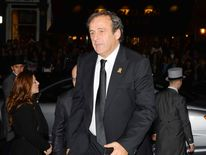 Uefa president Michel Platini rrives to attend The Football Association's 150th Anniversary Gala Dinner at the Grand Connaught Rooms last October