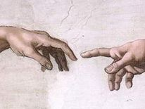 Michelangelo's Hand of God and Man