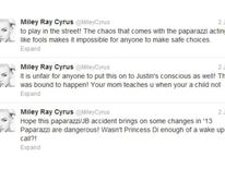 A series of tweets sent by Miley Cyrus