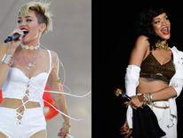 Miley Cyrus and Rihanna