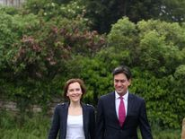 Ed and Justine Miliband
