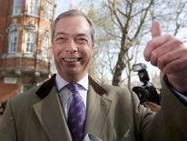 Nigel Farage arrives at Milbank studios in London