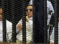 Former Egyptian president Hosni Mubarak appears in court