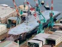 Japan launches new helicopter destroyer Izumo