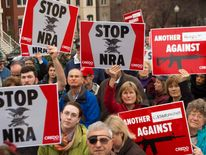 NRA HQ protest