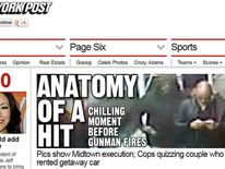 The New York Post front page of its website