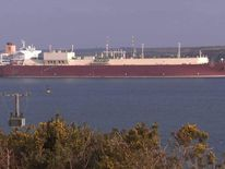 Gas tanker from Qatar arrives in Wales.