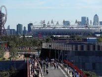 General view of the Olympic Park on day 9 of the London 2012 Paralympic Games