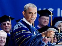 President Obama Speaks At UC Irvine Commencement Ceremony