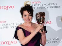 Olivia Colman with the Bafta supporting actress award