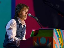 Paul McCartney performs at the Los Angeles Convention Center in Jan 2014