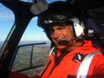 The Managing Director of Helivision, Captain Peter L Barnes. Pic Credit Helivision
