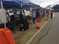 The world's media at Pearce Airforce base in Perth, the hub of the search operation to find debris from flight MH370.