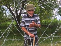 David Vanishvili, 80, who finds himself in South Ossetia