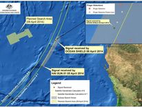 MH370 Missing Plane Map Of Black Box Signals