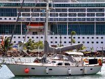 Roger and Margaret Pratt yacht in St Lucia