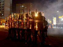Clashes near Maracana in Rio