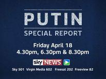 Promo for Vladimir Putin special report