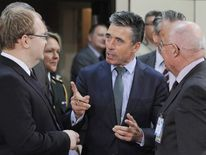 NATO general secretary Rasmussen speaks to FMs of other countries
