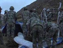 Tibet landslide rescuers
