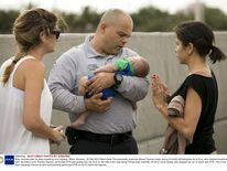 Baby rescued after he stops breathing on a highway, Miami, America - 20 Feb 2014