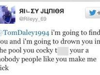 Twitter user Rileyy_69 who posted abusive messages on Twitter aimed at Olympic diver Tom Daley